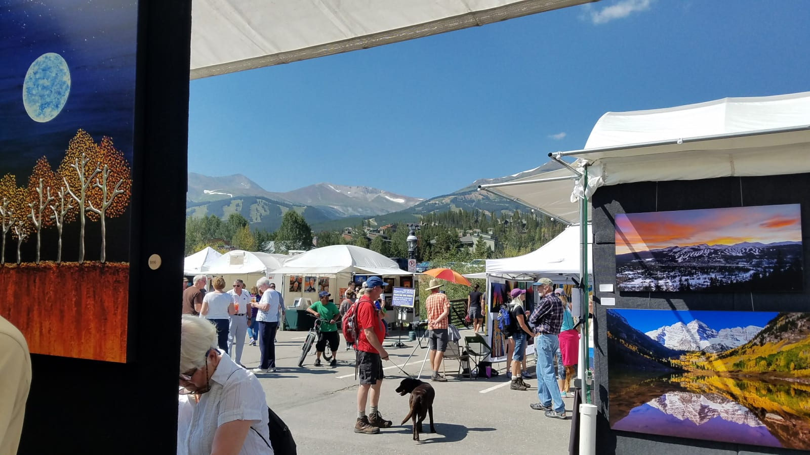 Breckenridge Gathering at the Great Divide Art Festival Paintings of Mountains