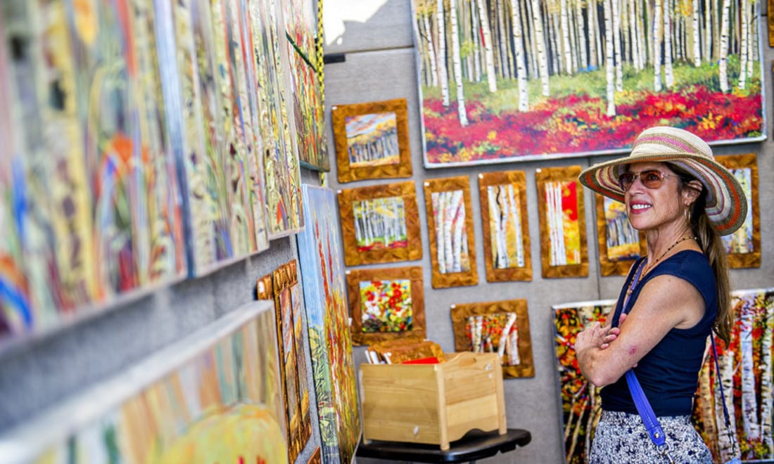 Cheesman Park Art Fest Woman Booth