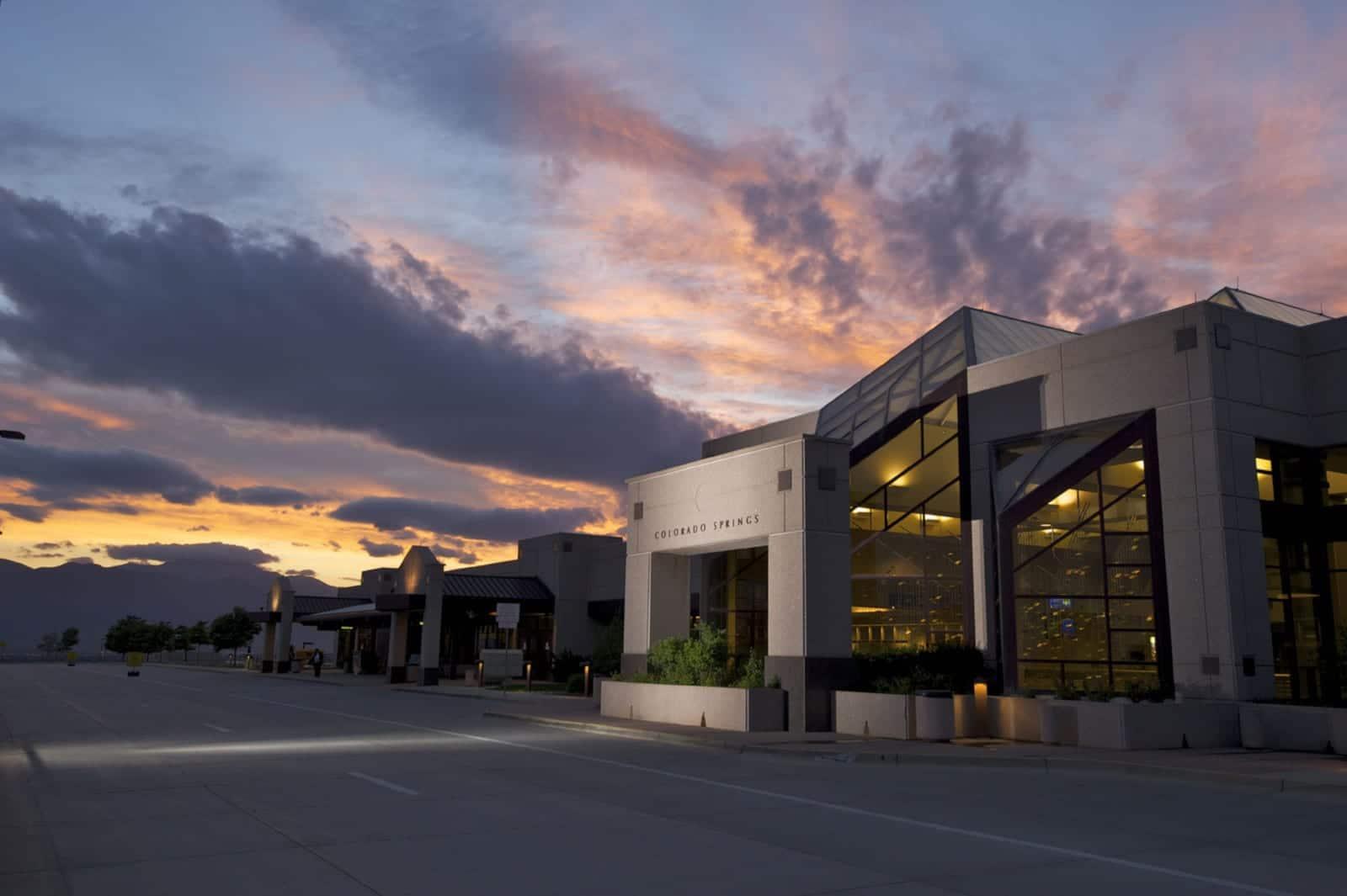 Colorado Springs Airport Terminal Dusk