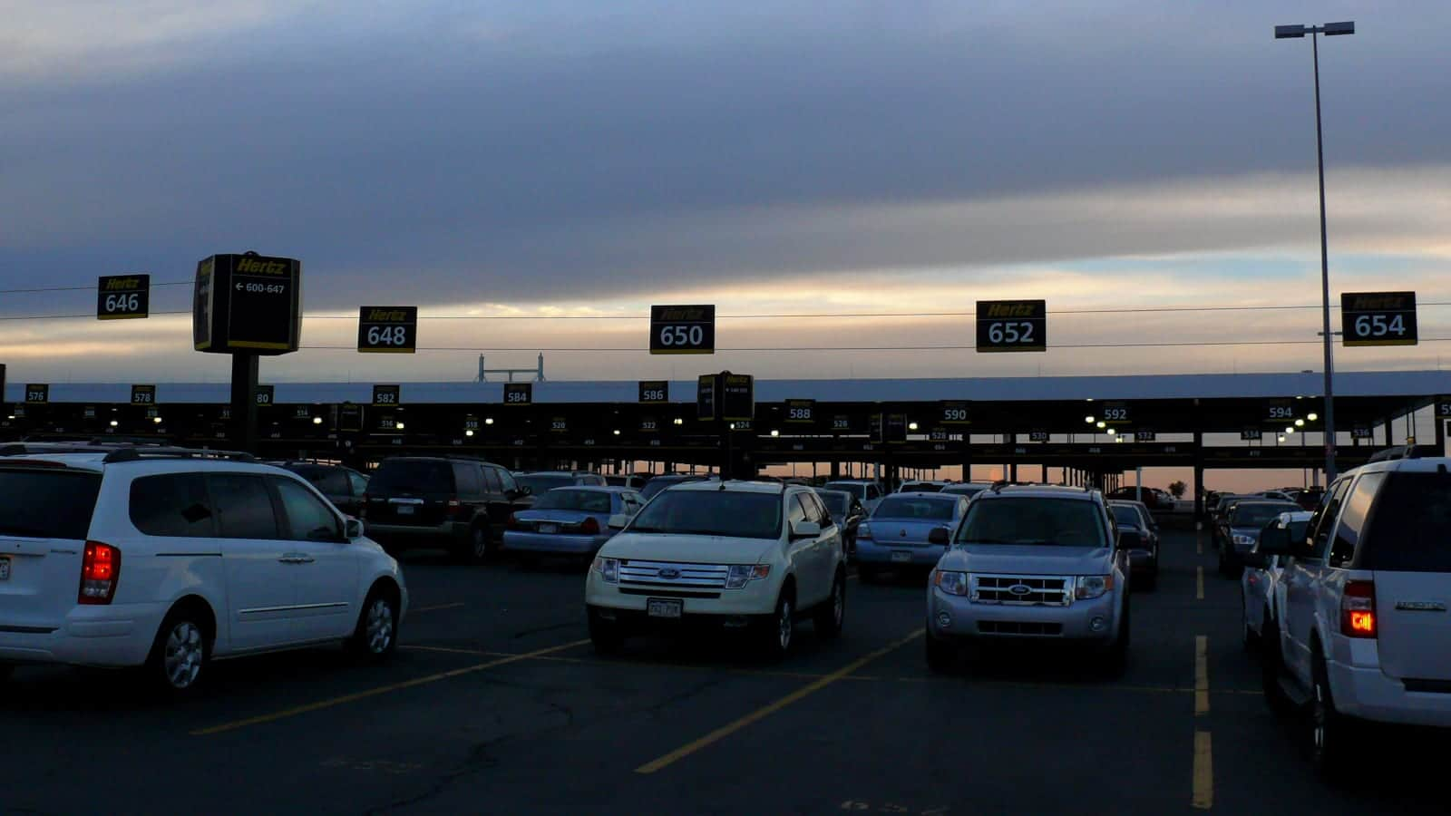 Denver International Airport Herz Rental Parking Lot