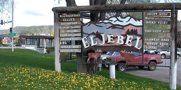 El Jebel Colorado Town Welcome Sign