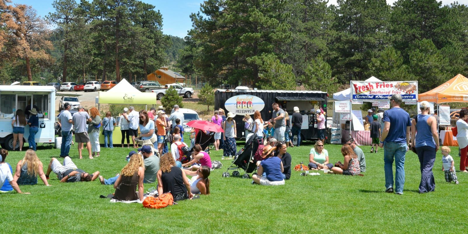 Evergreen Summerfest Food Booths Colorado