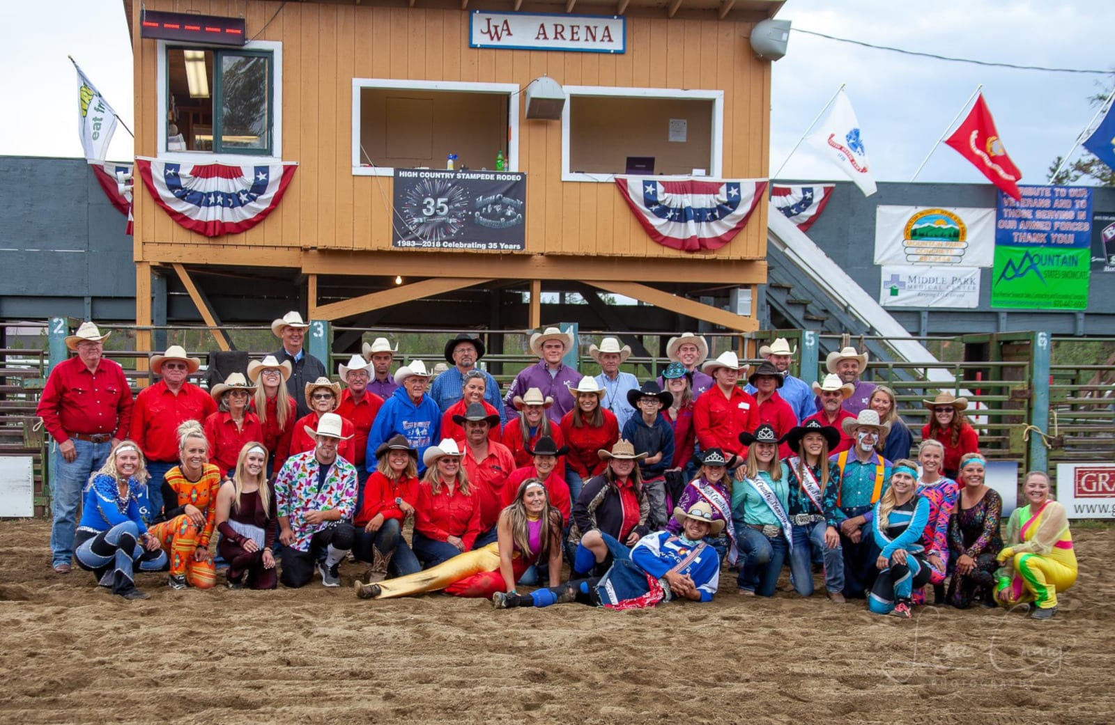 High Country Stampede Rodeo Group Photo 2018