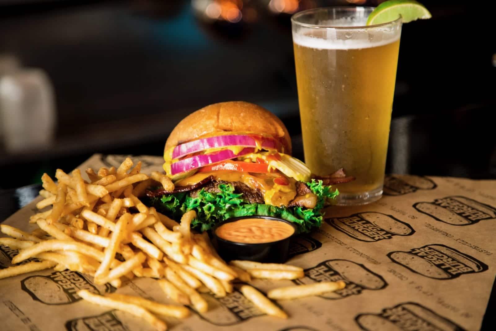 Illegal Burger Colorado Cheeseburger Fires Beer