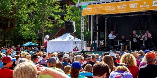 Keystone Bluegrass and Beer Festival Music Concert Stage