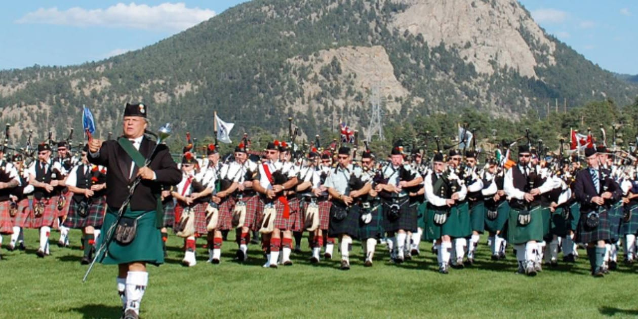 Longs Peak Scottish-Irish Highland Festival Bagpipe Marching Band