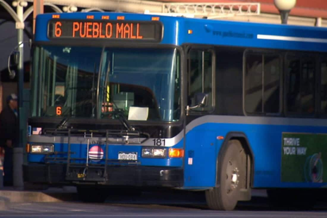 Pueblo Transit Mall Route Colorado Bus