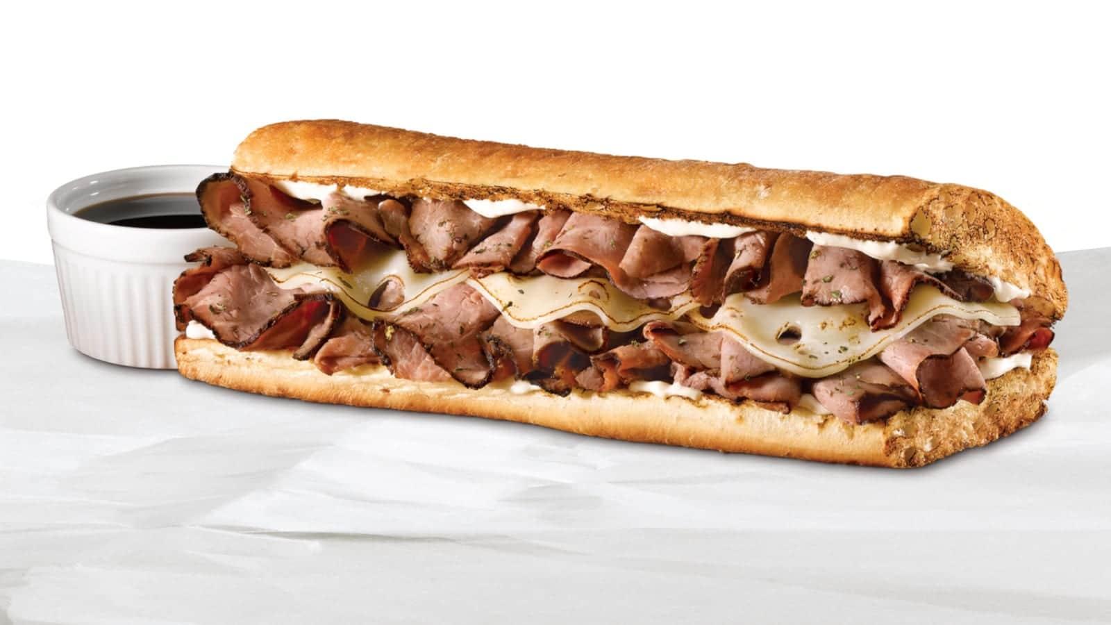 Quiznos Sub Sandwich Steakhouse Beef Dip