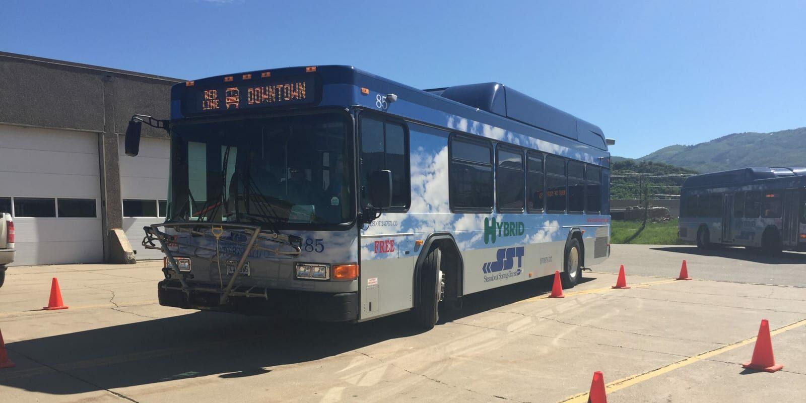 Steamboat Springs Transit Hybrid Bus