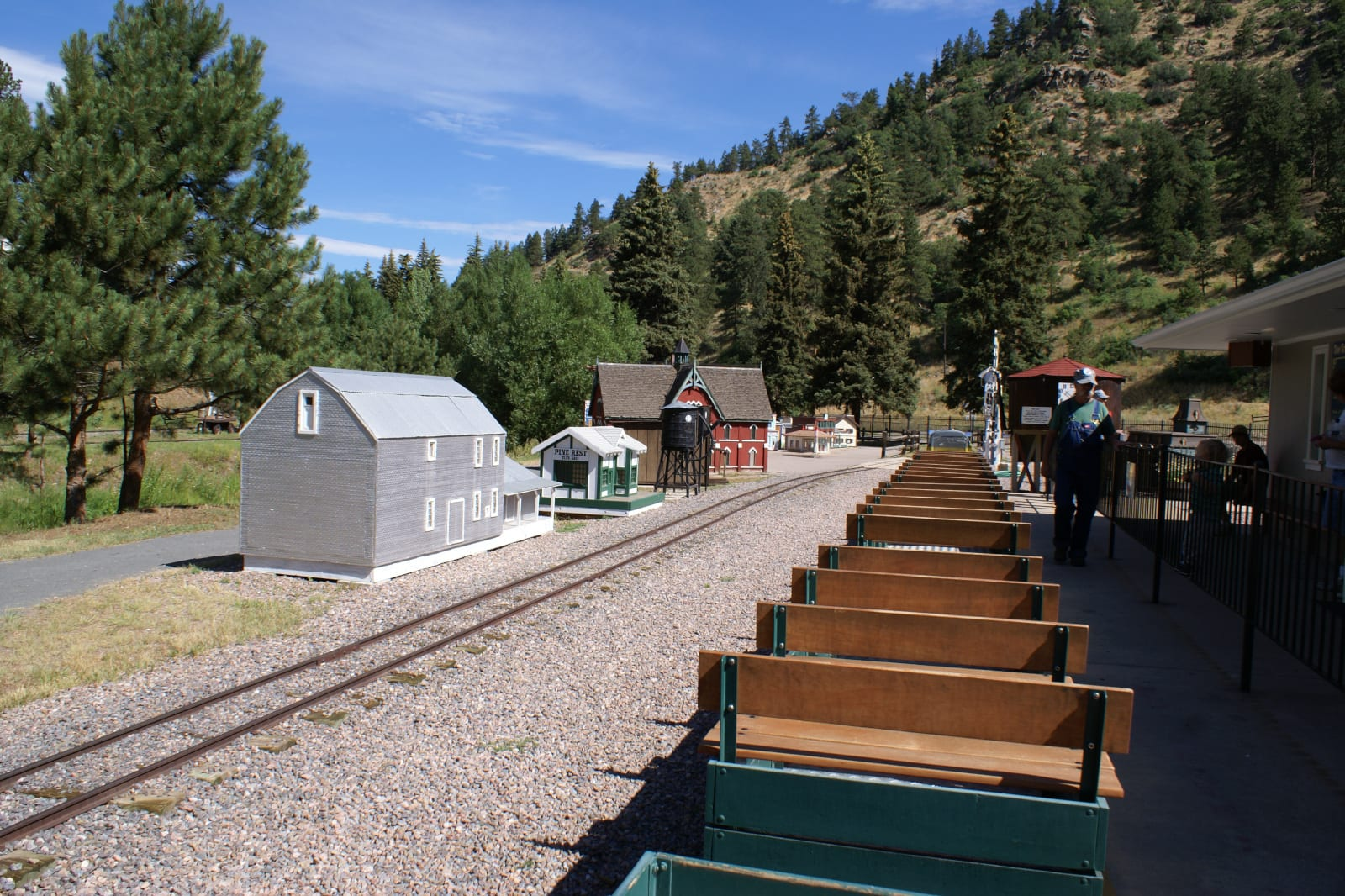 Tiny Town Railroad Morrison Train Ride Platform