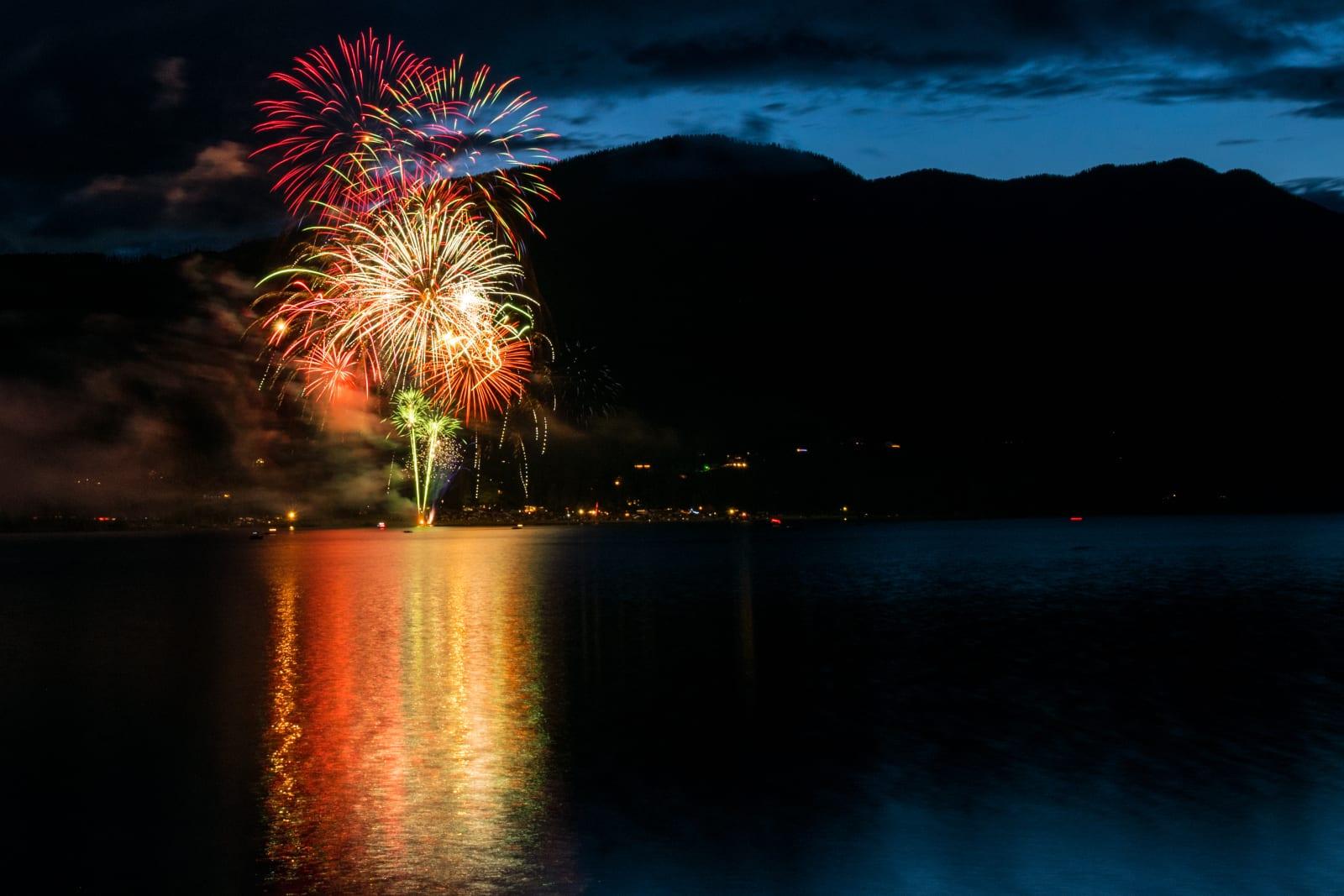 Vallecito Lake Fireworks Bayfield Colorado
