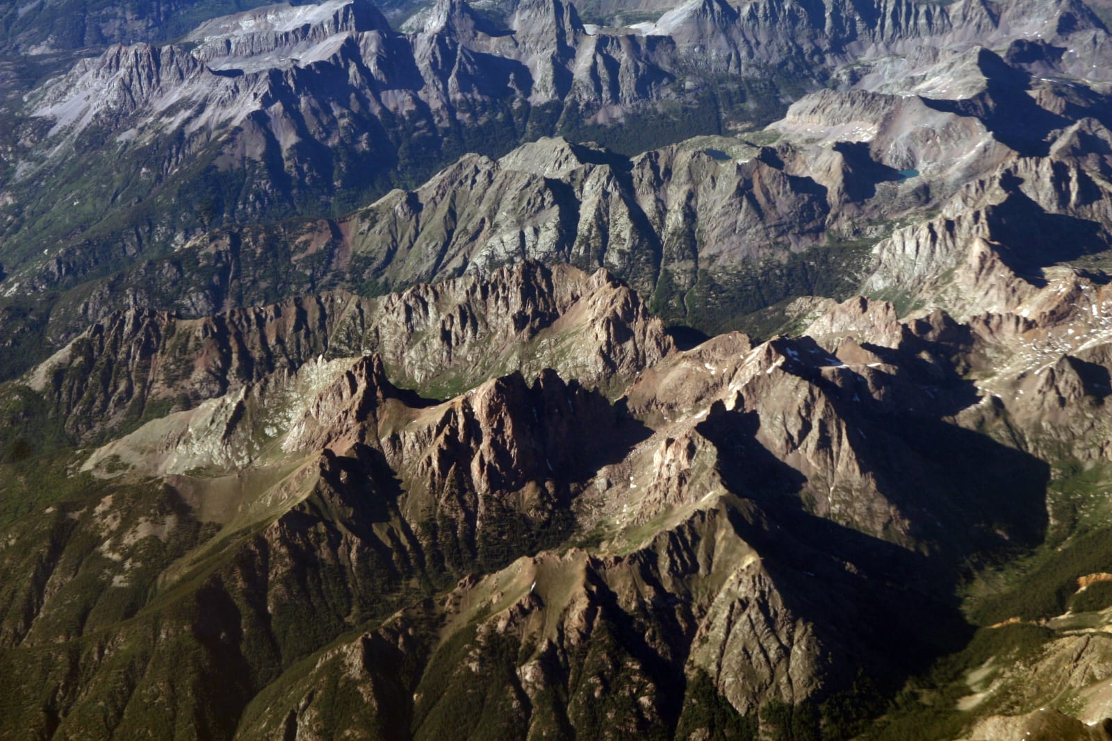 Weminuche Wilderness Needleton Mountains Aerial View