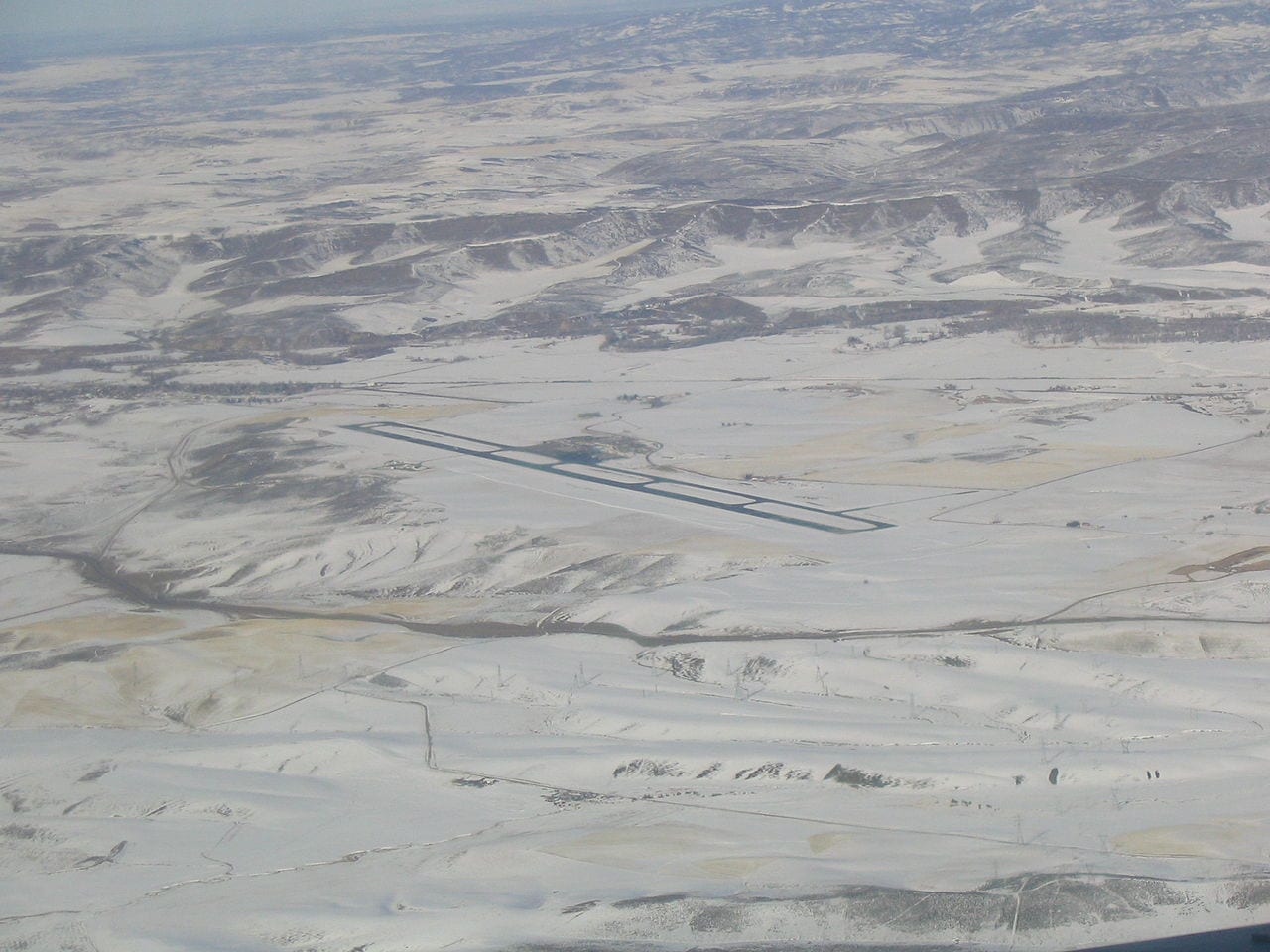 Yampa Valley Regional Airport Hayden CO Aerial View