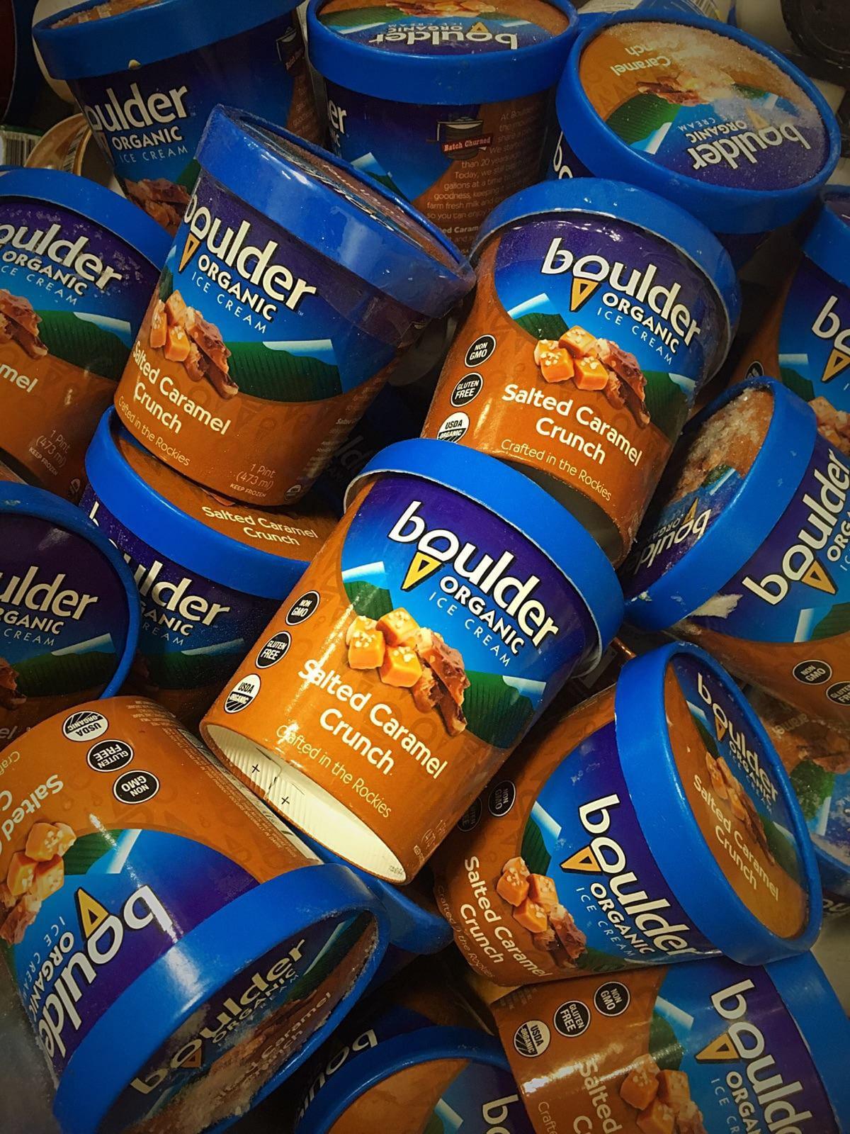 Boulder Organic Ice Cream Salted Caramel Crunch Pints