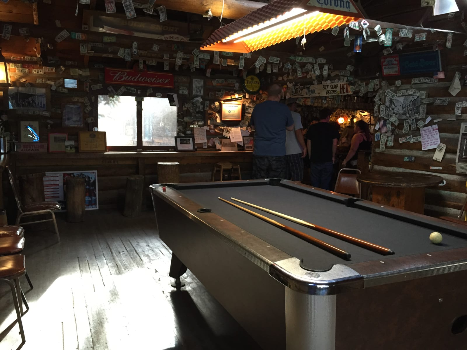 Bucksnort Saloon Pine CO Pool Table
