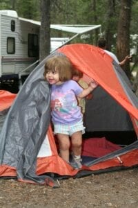 Camping Kids Checklist Child Inside Tent
