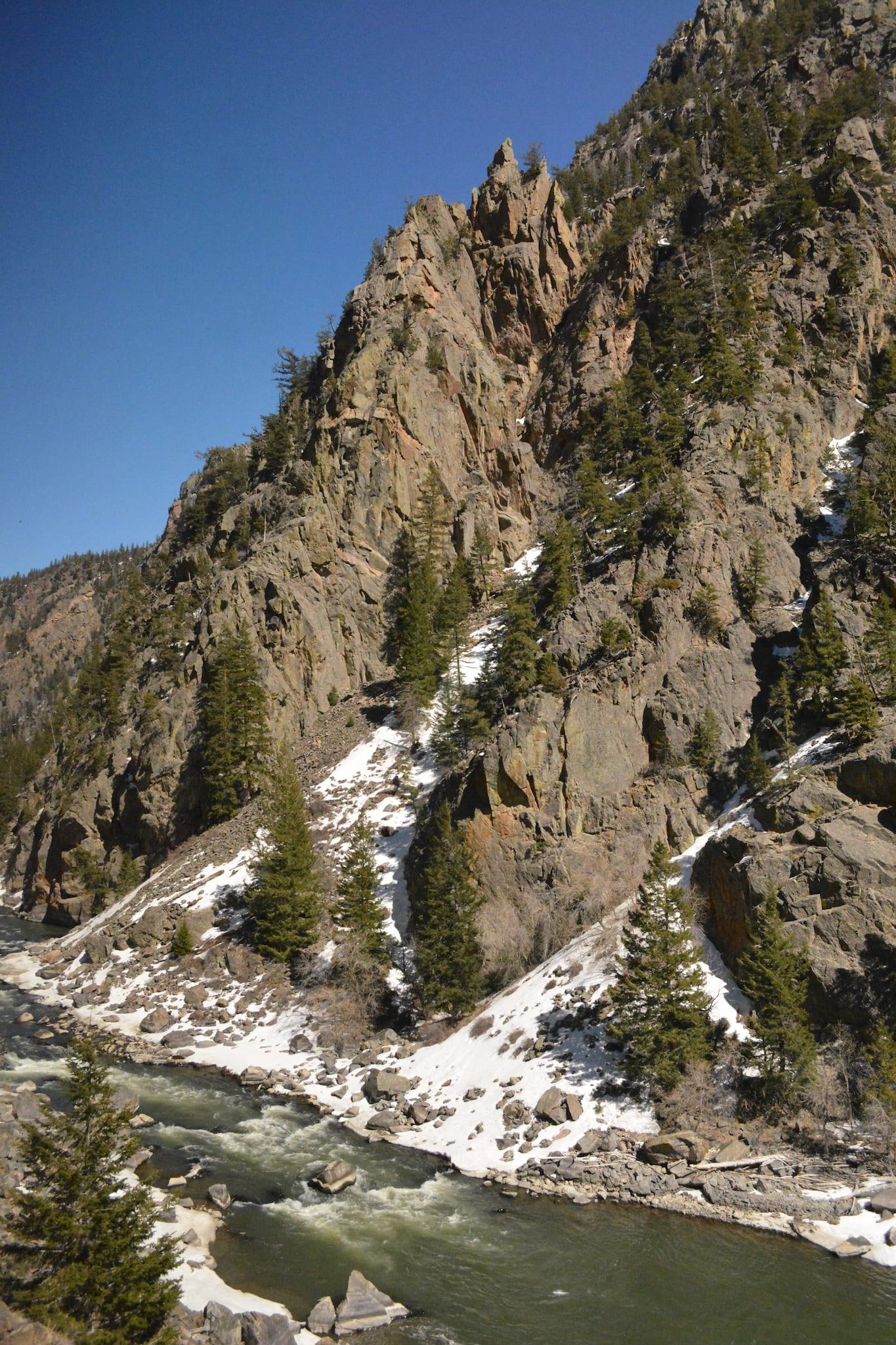 Colorado River Gore Canyon Colorado Early April