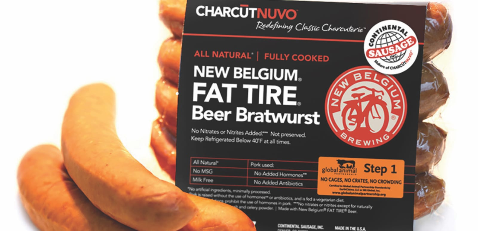 Continental Sausage Charcutnuvo New Belgium Fat Tire Beer Bratwurst