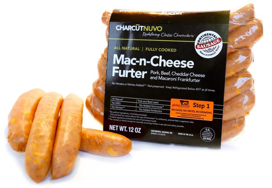 Continental Sausage Charcutnuvo Mac-n-Cheese Furter