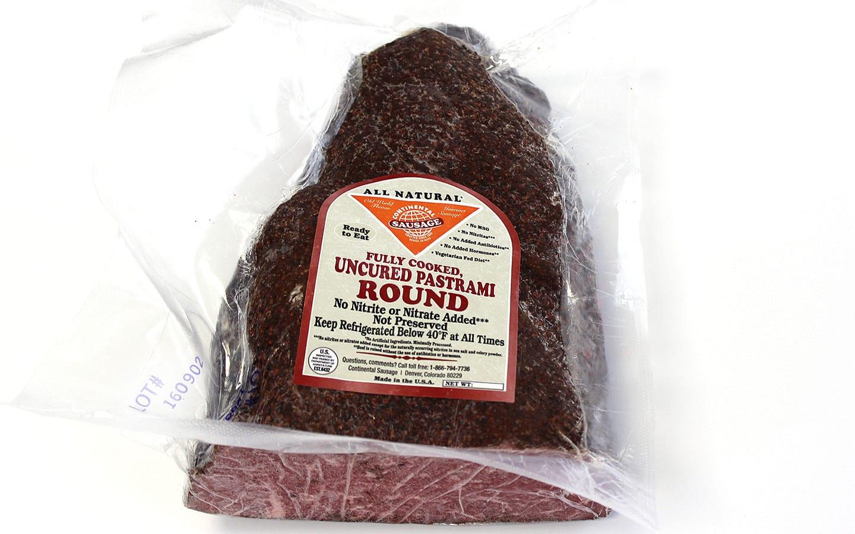Continental Sausage Charcutnuvo Uncured Beef Pastrami Round