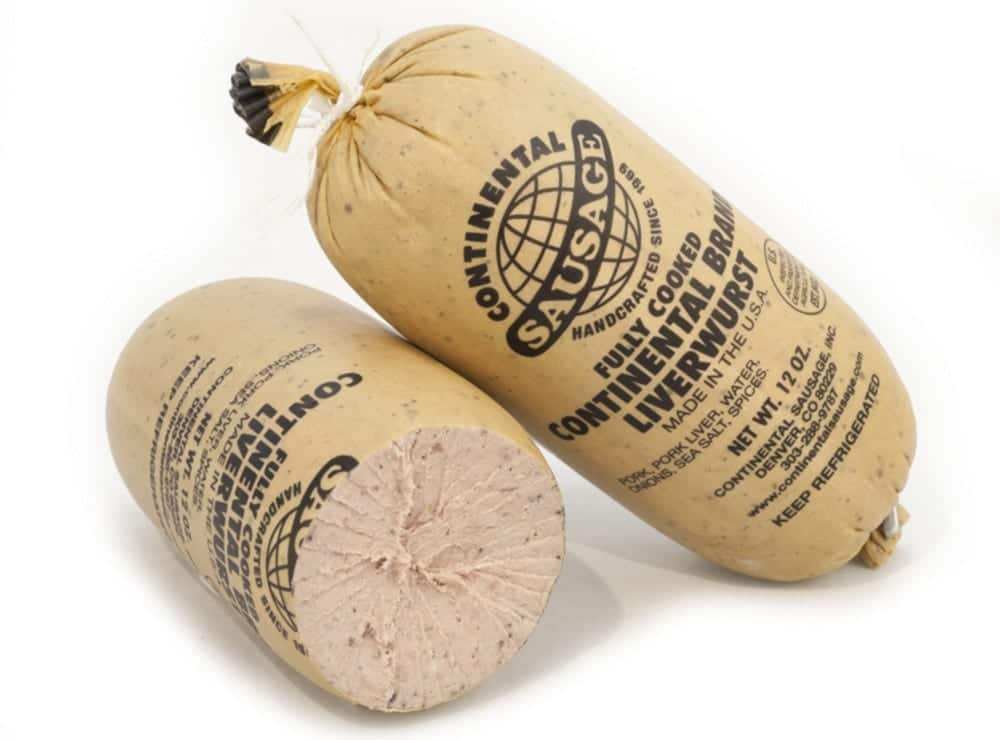 Continental Sausage Charcutnuvo Fully Cooked Liverwurst
