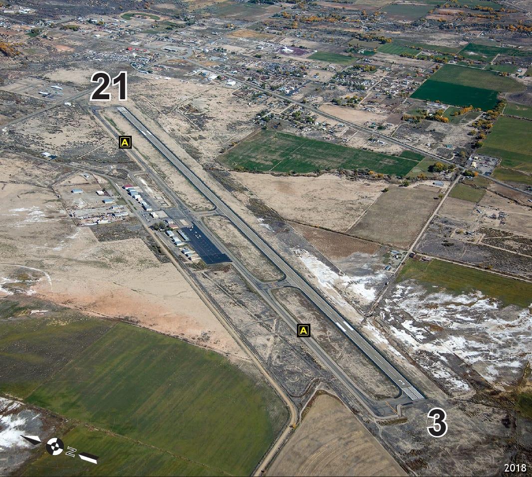 Cortez Municipal Airport Runway Aerial View