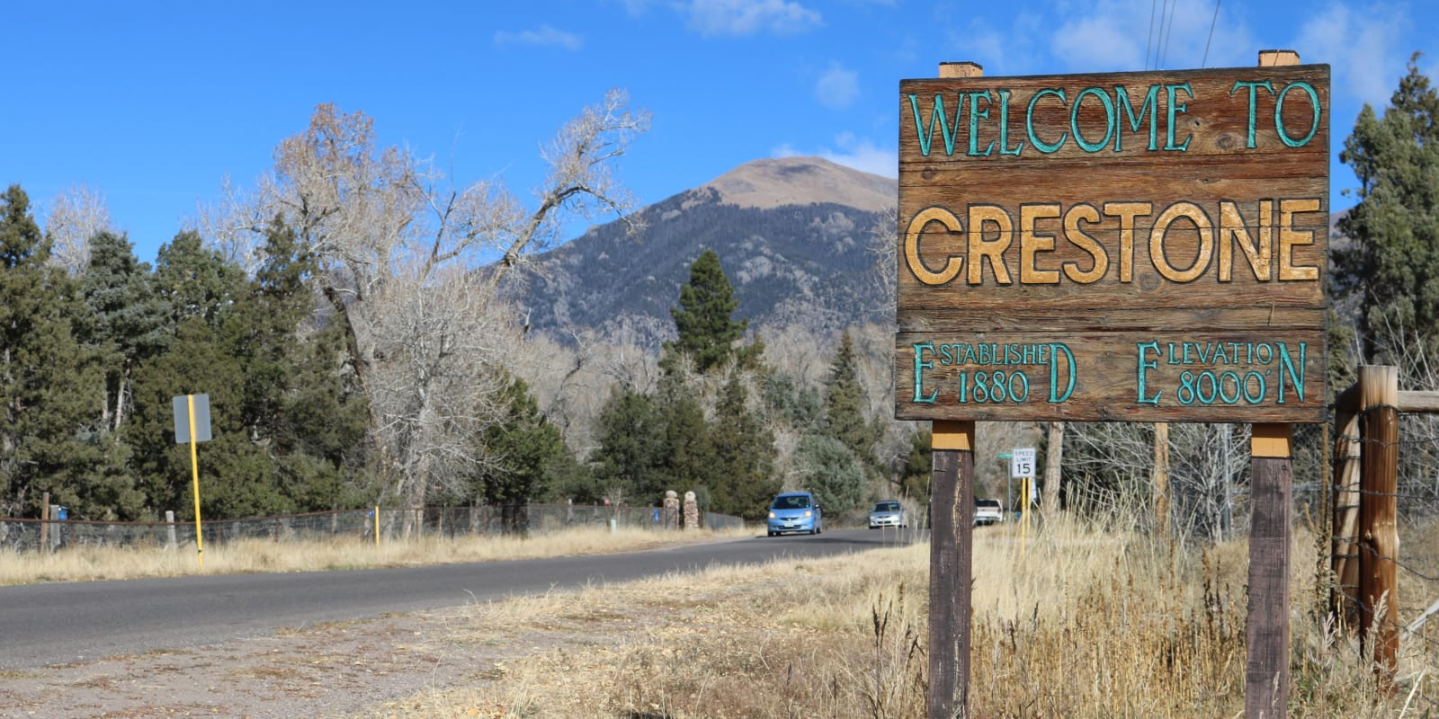 Crestone Colorado Welcome Sign