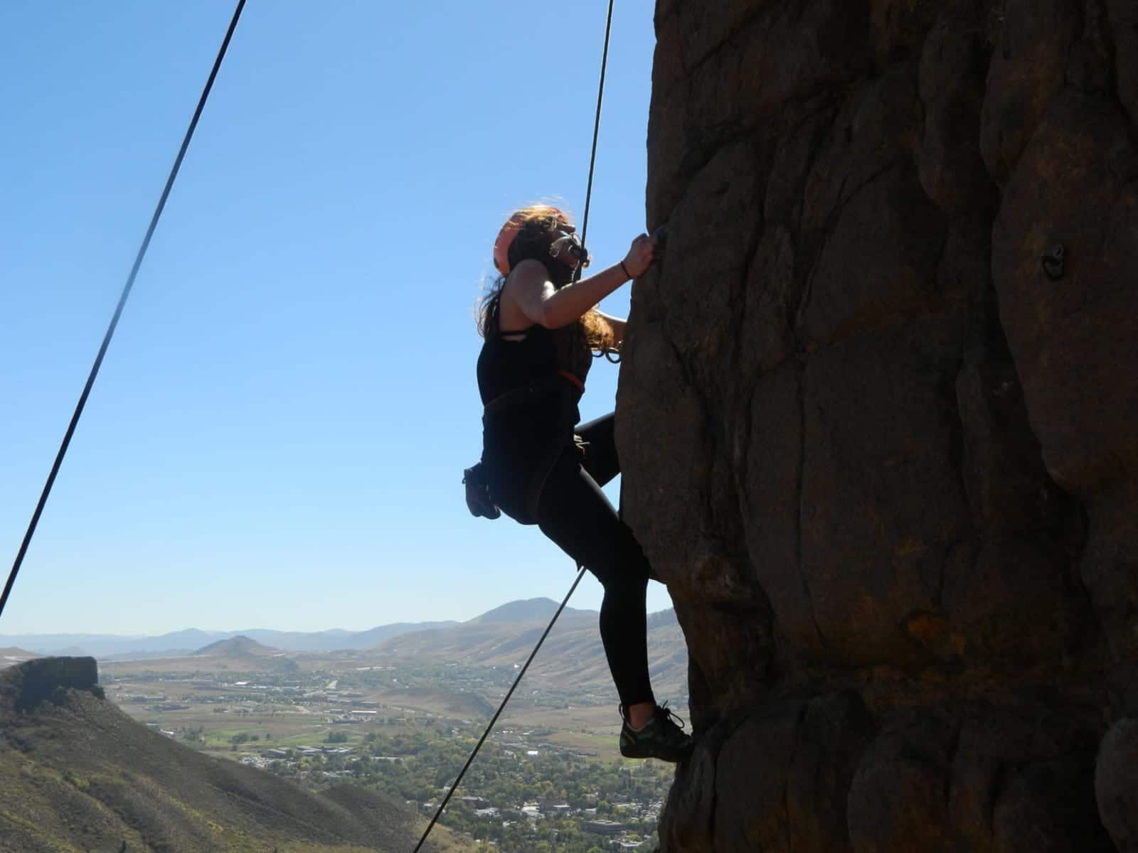 Denver Climbing Company Woman Rock Climber