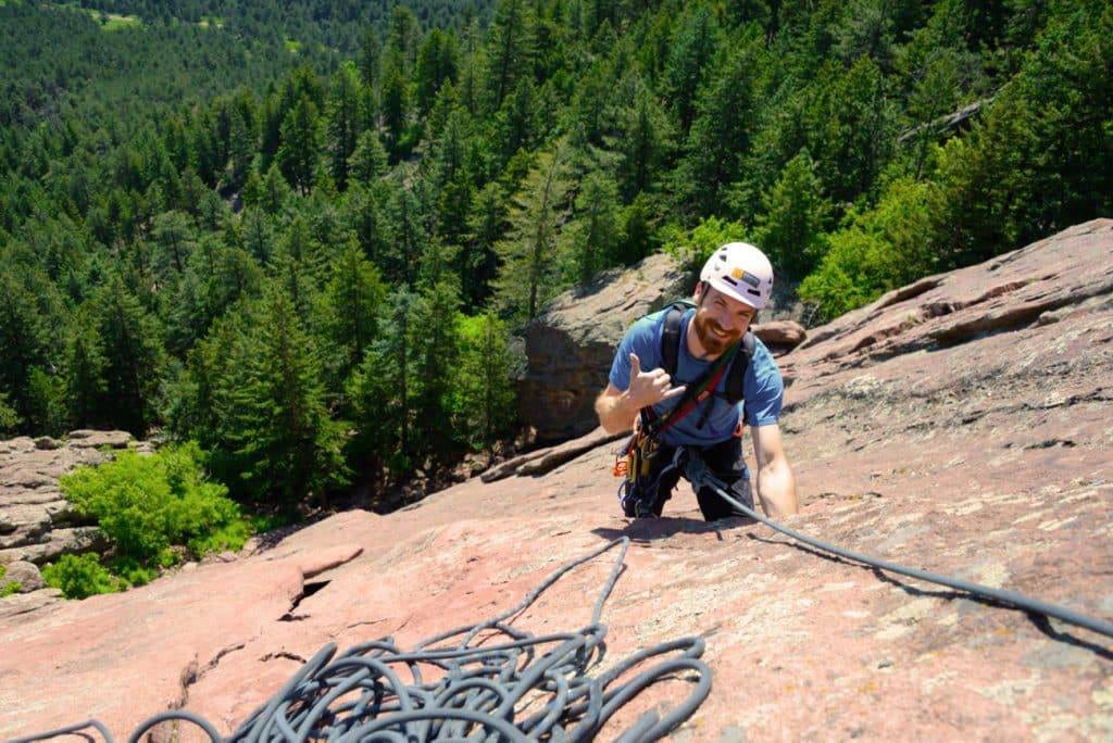 Denver Climbing Company Man Rock Climber
