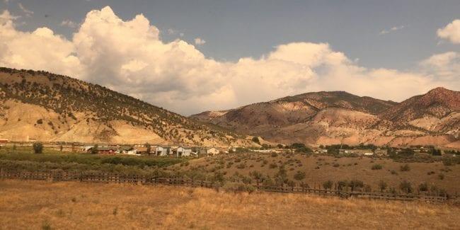 Dotsero Colorado View from California Zephyr Train