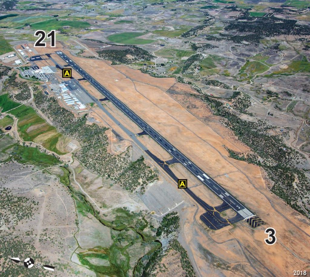 Durango La Plata County Airport Runway Aerial