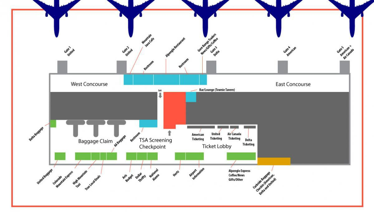 Eagle County Regional Airport Terminal Map