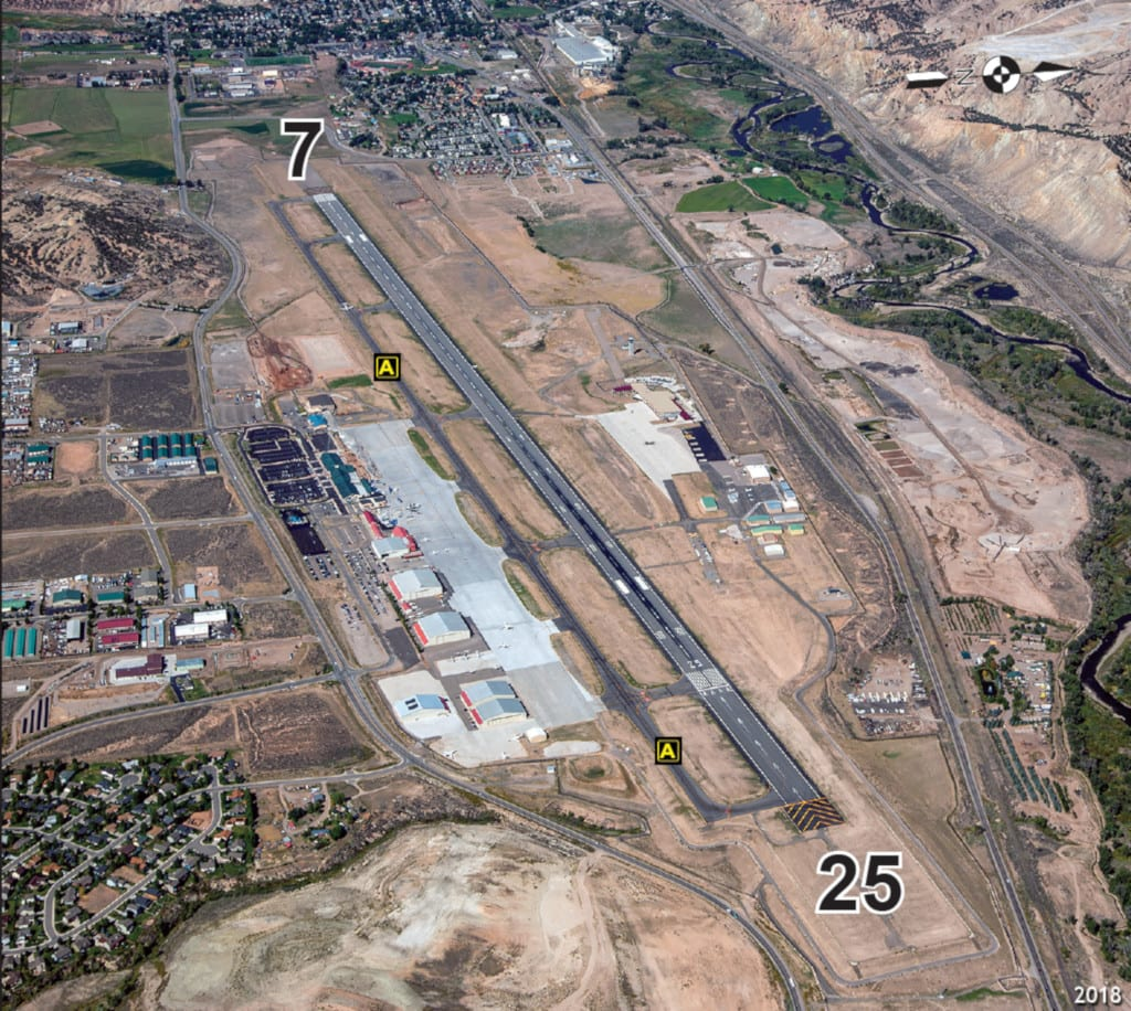Eagle County Regional Airport EGE Runway Aerial View