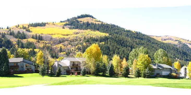 Eagle-Vail Colorado Mountain Peak Autumn