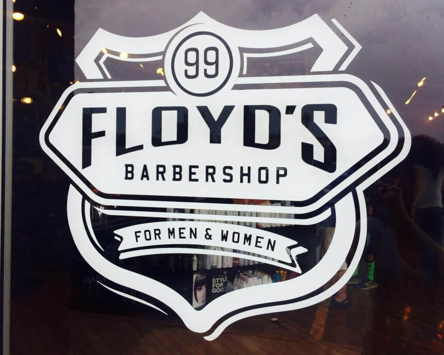 Floyd's 99 Barbershop Door Sign
