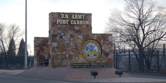 Fort Carson Colorado US Army Entrance