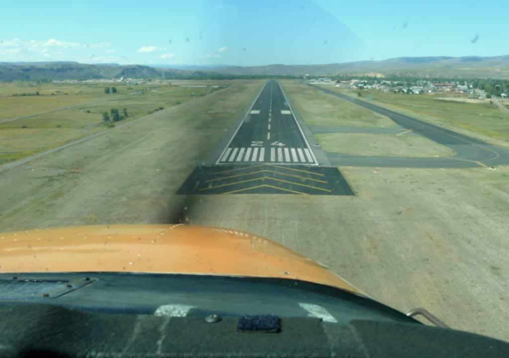 Gunnison-Crested Butte Regional Airport Landing Runway 24 Landing Inside Plane Cockpit