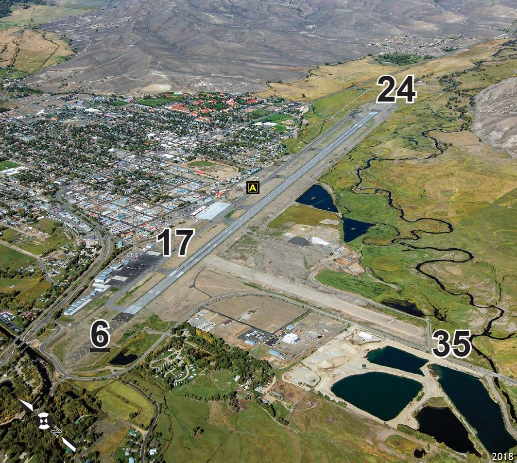 Gunnison-Crested Butte Regional Airport Runways Aerial View