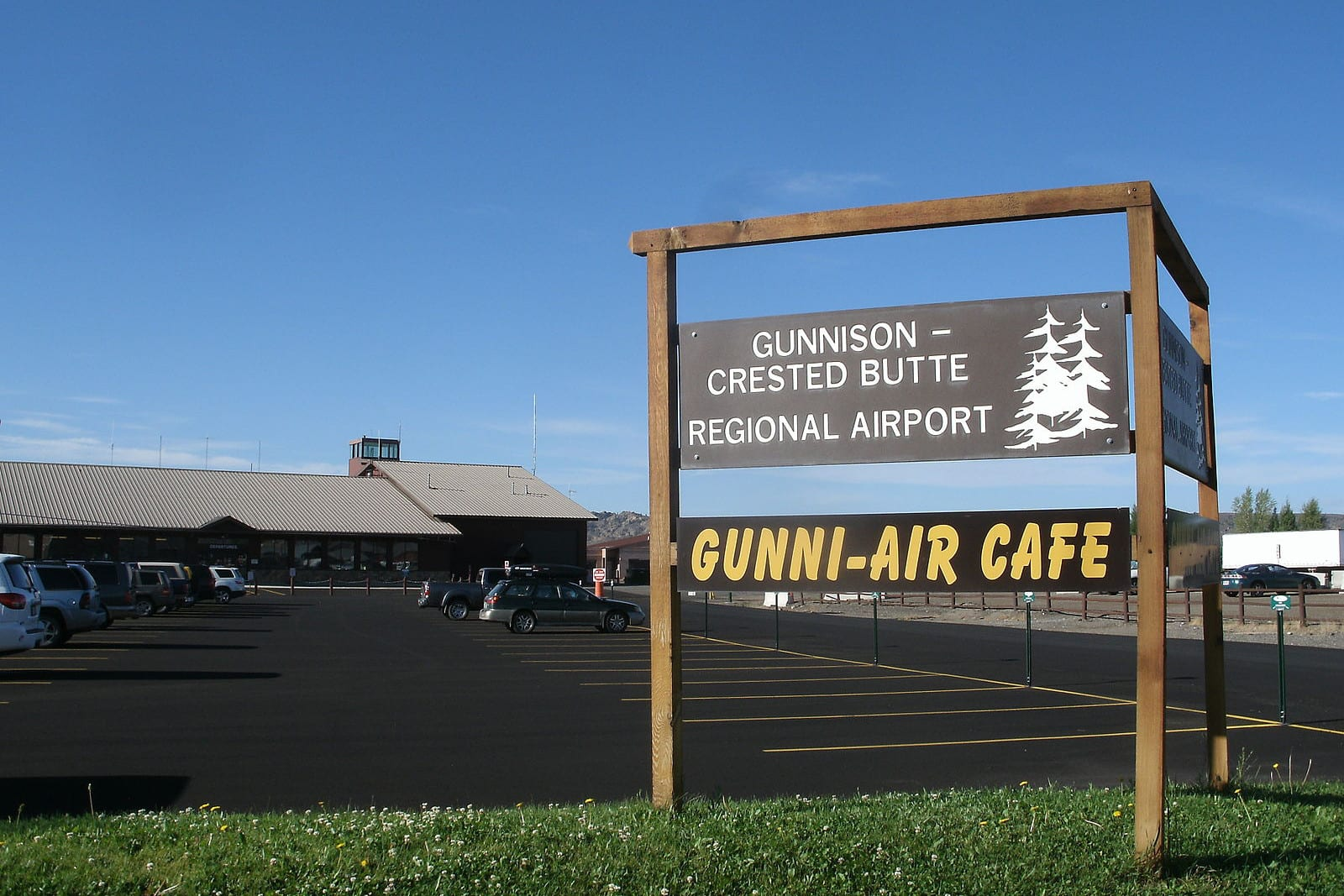 Gunnison-Crested Butte Regional Airport Terminal Sign