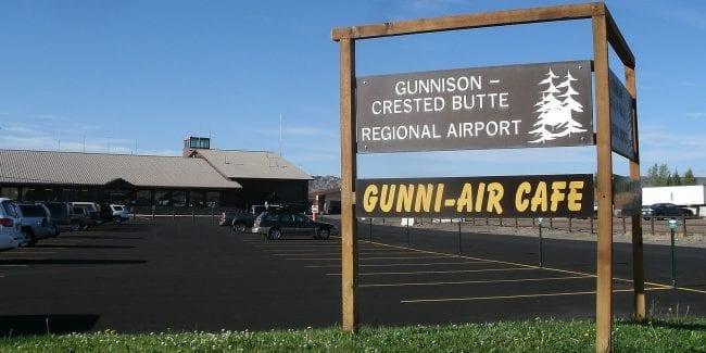 Gunnison-Crested Butte Regional Airport Terminal Sign