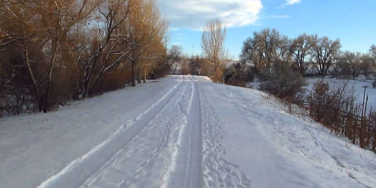 Highline Canal Trail Denver Colorado Winter