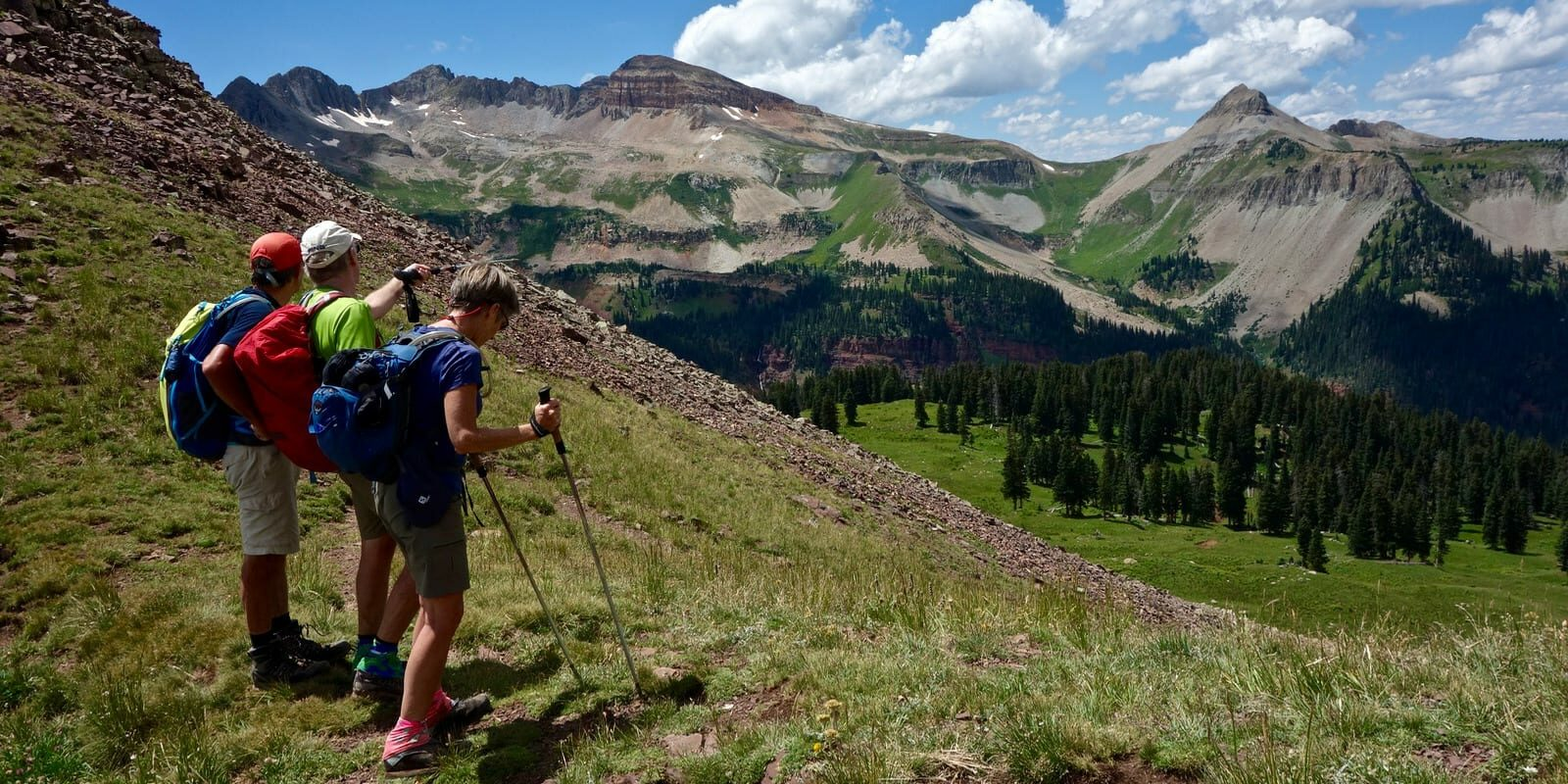 Highline Loop Trail Kennebac Pass to Shark's Tooth Durango Colorado