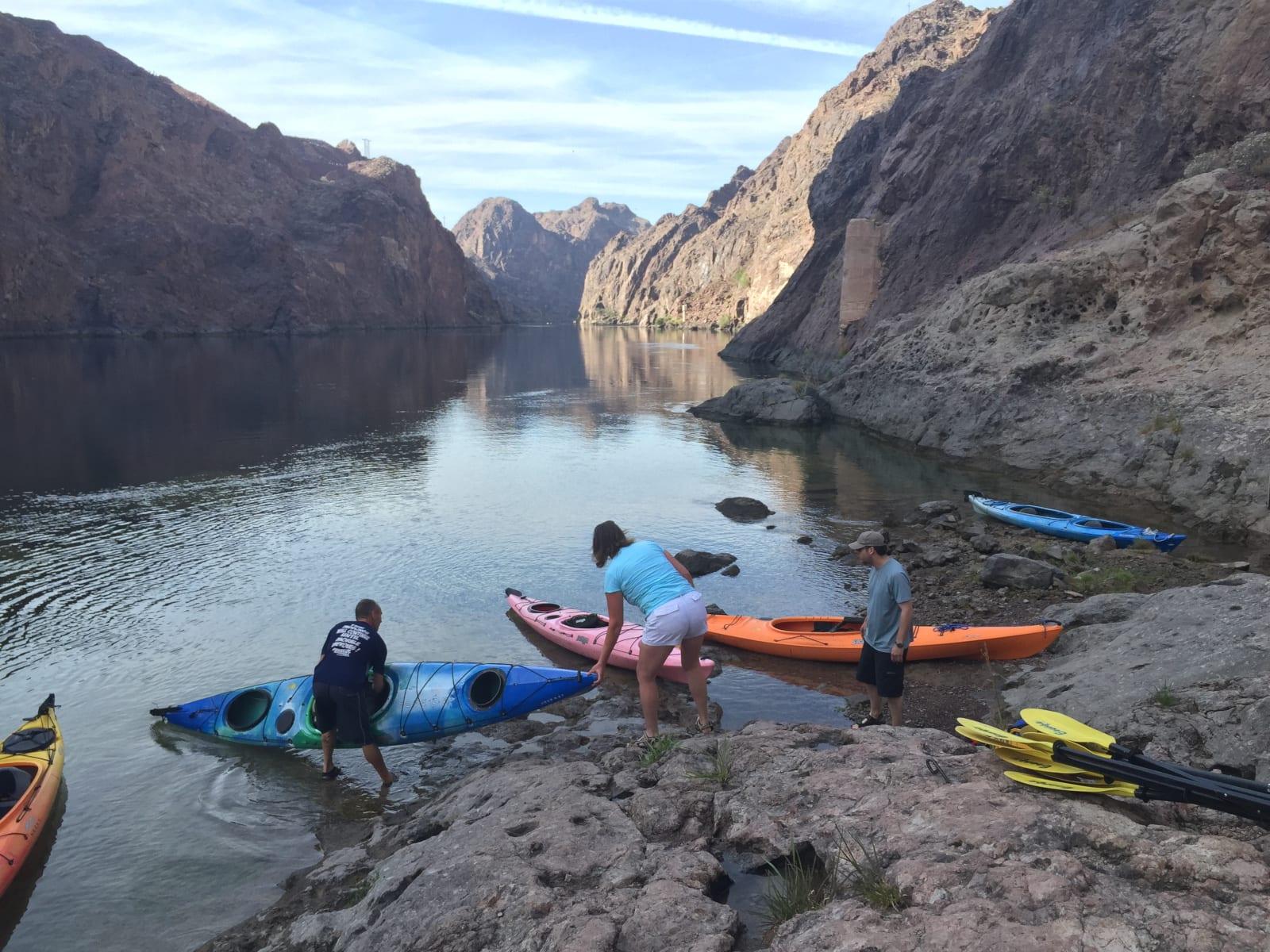 Colorado River Nevada Kayakers Boat Launching