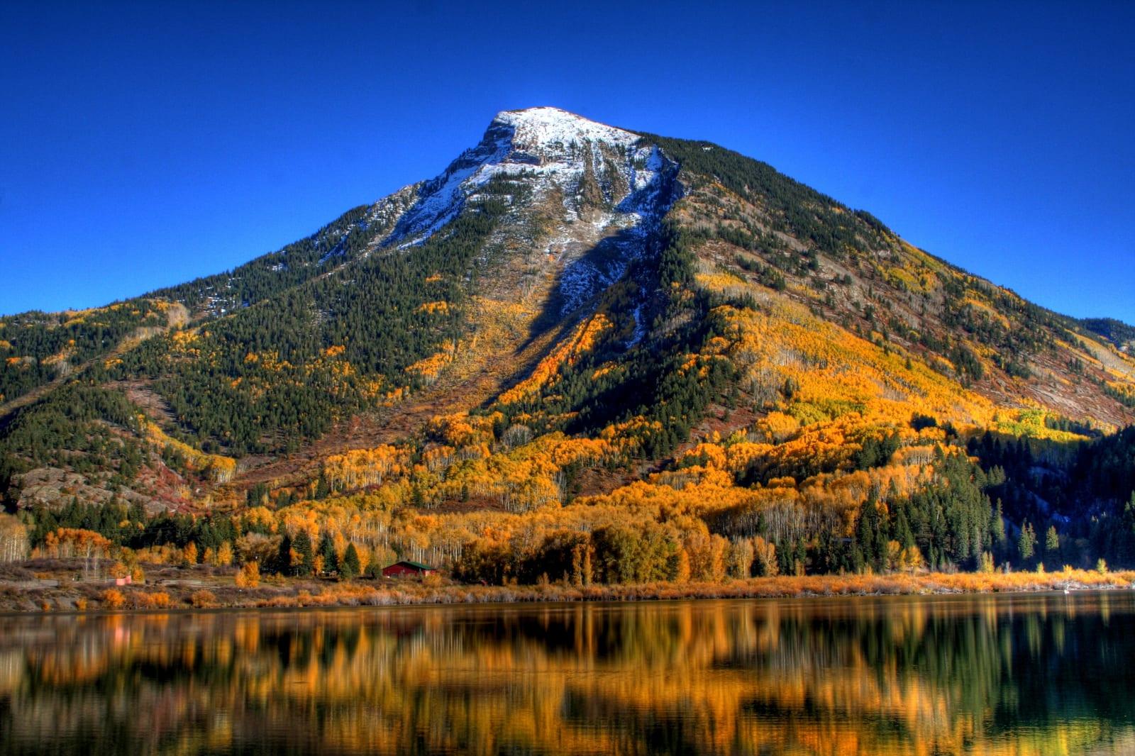 Marble Colorado Beaver Lake Fall Colors