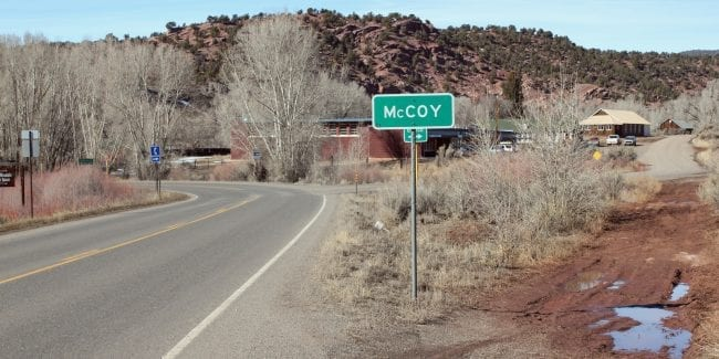 McCoy Colorado Highway 131 Town Sign