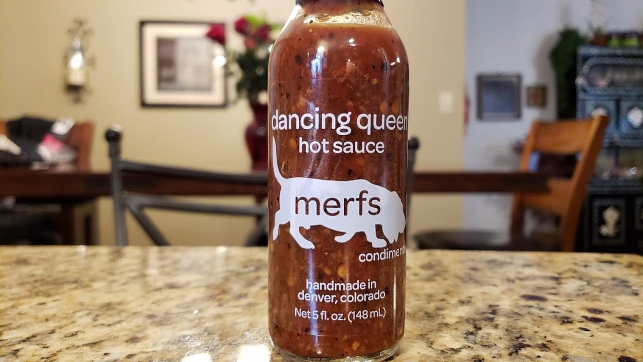 Merfs Condiments Dancing Queen Hot Sauce.