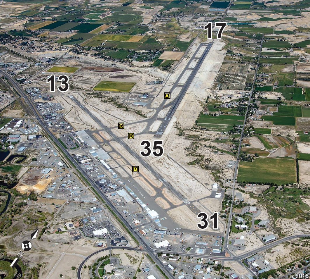 Montrose Regional Airport Runway Aerial View