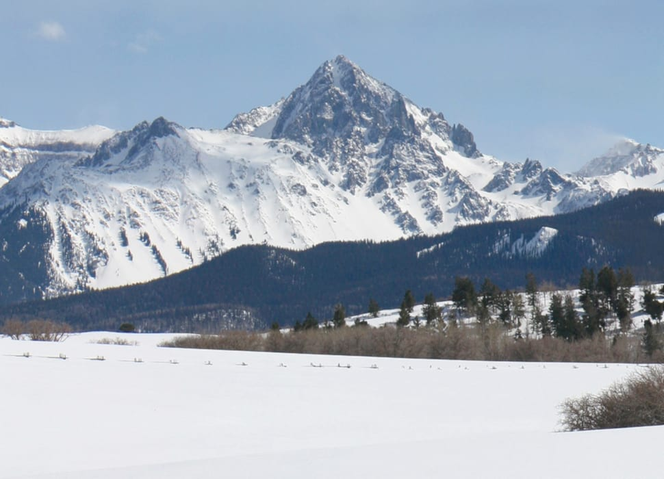 Mount Sneffels Peak Winter