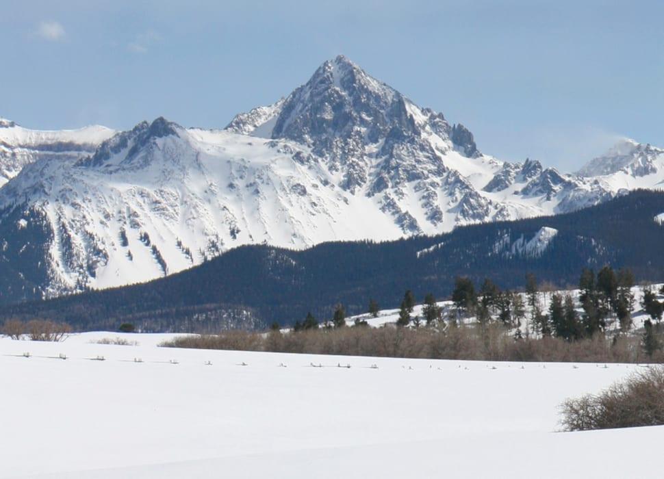 Mount Sneffels Peak Winter