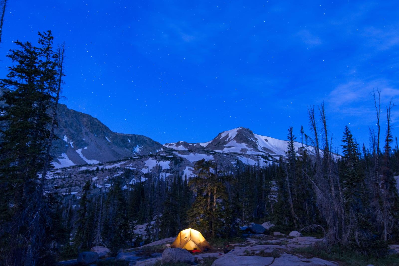 Mount Zirkel Wilderness Backpacking Tent Night Stars